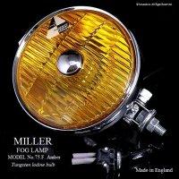 希少!1960's MILLER FOG LAMP No.75F Amber / ミラー フォグランプ アンバー&スイッチ デッドストック 箱入