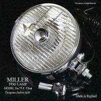 希少!1960's MILLER FOG LAMP No.75F Clear / ミラー フォグランプ クリア&スイッチ デッドストック 箱入