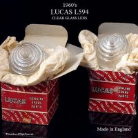 1960's LUCAS L594 Clear glass lens Set/ルーカス パークランプレンズ クリア デッドストック 箱入セット