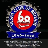 貴重! THE VESPA CLUB OF BRITAIN Vespa 60th Anniversary ベスパ生誕60周年記念 COGバッジ デッドストック