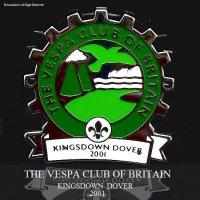貴重!2001年 THE VESPA CLUB OF BRITAIN  KINGSDOWN DOVER ベスパ クラブ COGバッジ デッドストック