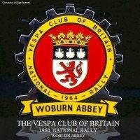 貴重!1964年 THE VESPA CLUB OF BRITAIN  NATIONAL RALLY WOBURN ABBEY ベスパ クラブ ラリー COGバッジ デッドストック