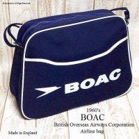 1960's BOAC Airline bag shoulderNOS/エアライン ショルダーバッグ デッドストック未使用