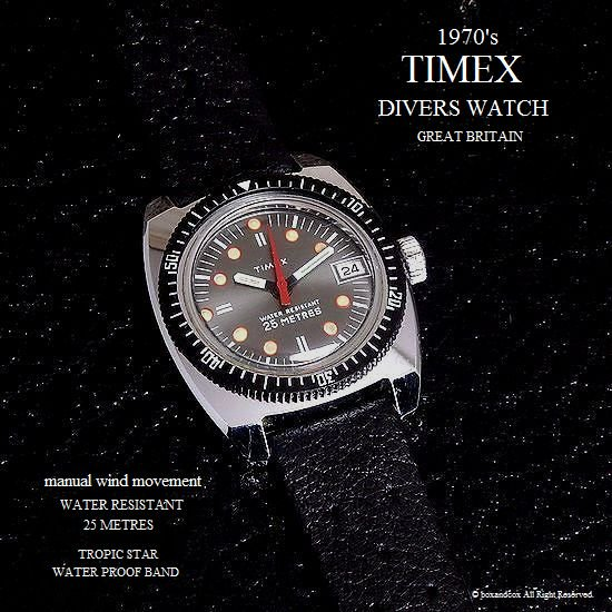 1970's Vintage TIMEX  DIVERS DATE /英...