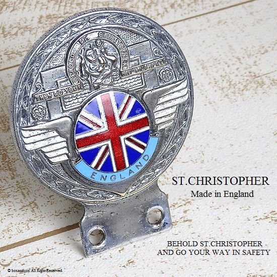 1960's セント・クリストファー ST.CHRISTOPHER ENGLAND カー バッジ