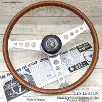 貴重!当時物 LES LESTON GP/レス レストン グランプリ ウッド ステアリング フルセット 48スプライン ミニ用