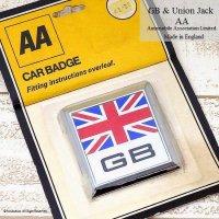 GB & Union Jack Car Badge by AA/ GB &ユニオンジャック カーバッジ AA デッドストック