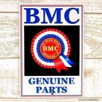 英国製 BMC GENUINE PARTS アンティーク ティン・サインプレート 看板