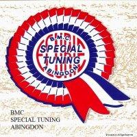BMC SPECIAL TUNING ABINGDON/BMC スペシャルチューニング ロゼッタ ラバー立体ステッカー
