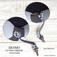 レア!当時物 DESMO 165 WING MIRROR ウイングミラー セット 旧ロゴ デッドストック
