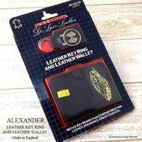 当時物 ALEXANDER LEATHER KEY RING & WALLET/アレキサンダー キーホルダー&ウォレット  デッドストック未開封
