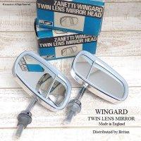 レア!WINGARD TWIN LENS Wing Mirror/ウインガード ウイング ツインミラー デットストック 箱入
