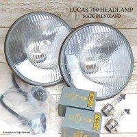 当時物 LUCAS 700 HEADLAMP 松明 たいまつ ヘッドライト&バルブ・ホルダーSET エクセレントコンディション
