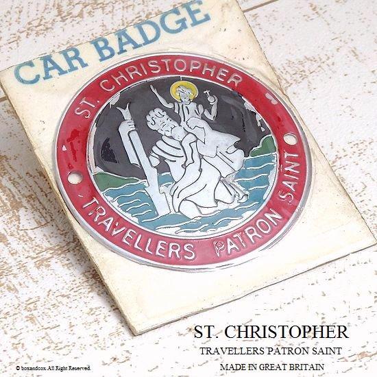 Vintage St Christopher Car Badge Automobilia Car Badges