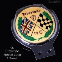 貴重!1950-60's Firestone Motot Club/ファイアストン モータークラブ カーバッジ WASSELL RENAMEL製
