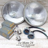 <img class='new_mark_img1' src='//img.shop-pro.jp/img/new/icons13.gif' style='border:none;display:inline;margin:0px;padding:0px;width:auto;' />Le Mans 24 LUCAS 700 HEADLAMP/ルーカス ル・マン24 ヘッドライトSET デッドストック
