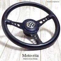 希少!英国製 Moto-rita モトリタ ブラックディッシュ レザーステアリング ミニ用ボス フルSET