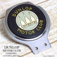 貴重!1950-60's DUNLOP MOTOR CLUB/ダンロップ モータークラブ カーバッジ WASSELL RENAMEL製