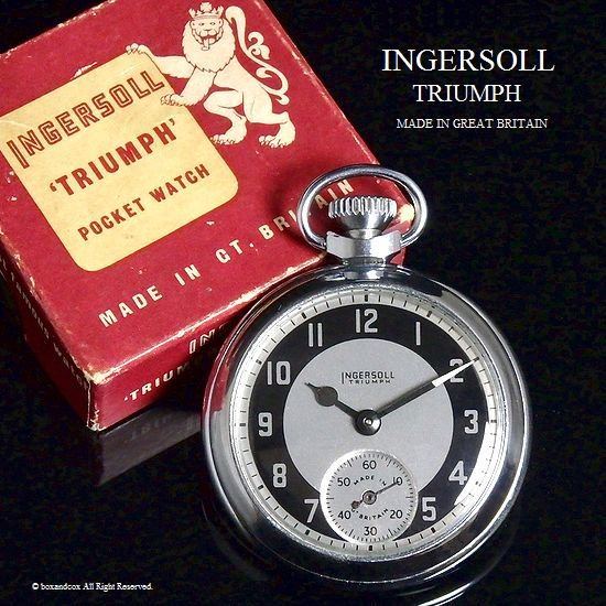 1960's INGERSOLL TRIUMPH /インガーソル トライアンフ 懐中時計 オリジナルBOX付
