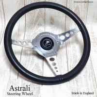 希少!1960's 英国Astrali/オールド アストラリ レザーステアリング ミニ用ボス フルSET
