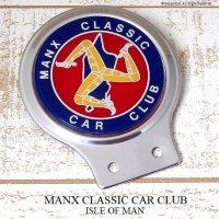 1970s MANX CLASSIC CAR CLUB/ISLE OF MAN マン島 カーバッジ デッドストック