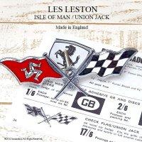 超貴重!1960's LES LESTON CHECK FLAG ISLE OF MAN/レス レストン チェッカーフラッグ マン島  グリルバッジ