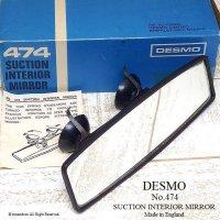 希少!DESMO 474 SUCTION INTERIOR MIRROR/デスモ W吸盤 インテリア ルームミラー デッドストック 箱入