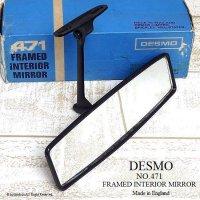 希少!DESMO 471 FRAMED INTERIOR MIRROR/デスモ インテリア ルームミラー デッドストック 箱付