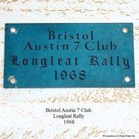 貴重!1968年 BRISTOL AUSTIN 7 CLUB LONGLEAT RALLY PLATE PLAQUE/オースチン セブン クラブ ロングリートラリー 記念プレート