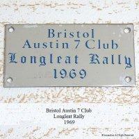 貴重!1969年 BRISTOL AUSTIN 7 CLUB LONGLEAT RALLY PLATE PLAQUE/オースチン セブン クラブ ロングリートラリー 記念プレート