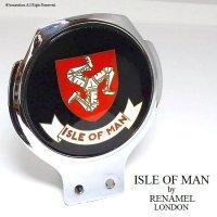 貴重! ISLE OF MAN  by RENAMEL/マン島 カーバッジ 英国RENAMEL製