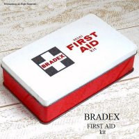 当時物 BRADEX mini FITRST AID kit/車載救急箱 TIN缶