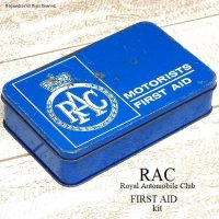 当時物 RAC-Royal Automobile Club  FITRST AID kit/車載救急箱 TIN缶
