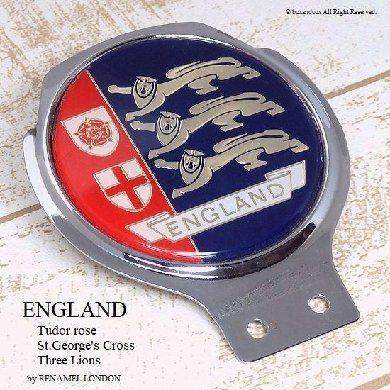 当時物 ENGLAND/イングランド カーバッジ RENAMEL LONDON