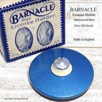 貴重!初期型 BARNACLE TAX DISC/バーナクル タックスディスクホルダー  ブルーハンマード デッドストック 箱付