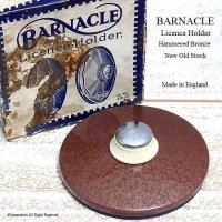 貴重!初期型 BARNACLE TAX DISC/バーナクル タックスディスクホルダー  ブロンズハンマード デッドストック 箱付