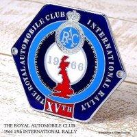 貴重!1966年 15th RAC INTERNATIONAL RALLY グリル・カーバッジ デッドストック未使用