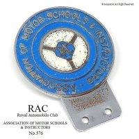 希少!1940-50年代 RAC ASSOCIATION OF MOTOR SCHOOLS & INSTRUCTORS カーバッジ