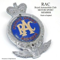 貴重!1950's RAC/Royal Automobile Club  MOTOR SPORT MEMBER カーバッジ フィティング付