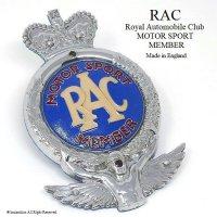 貴重!1950's RAC/Royal Automobile Club  MOTOR SPORT MEMBER カーバッジ フィティング付