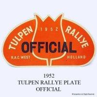 希少!1952年 TULPEN RALLYE PLATE OFFICIAL/チューリップラリー ラリープレート オフィシャル