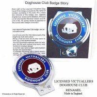 激レア!1960-70's DOGHOUSE CLUB LICENSED VICTUALLERS /ドッグハウス クラブ カーバッジ RENAMEL製