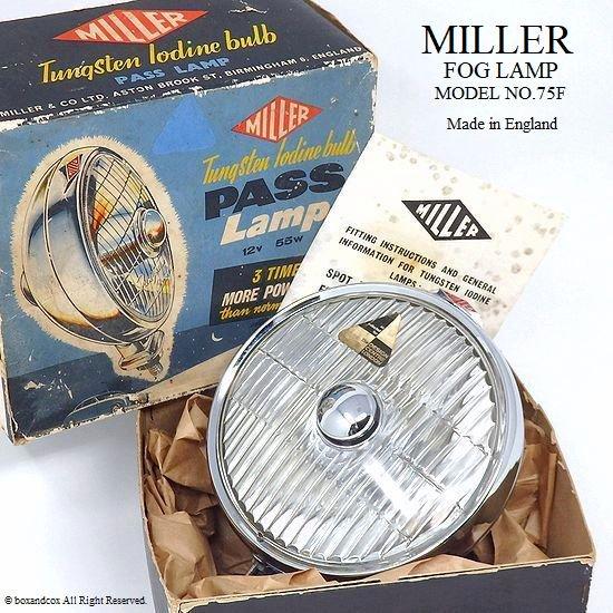 希少!1960's MILLER FOG LAMP No.75F/ミラー フォグランプ デッドストック 箱入