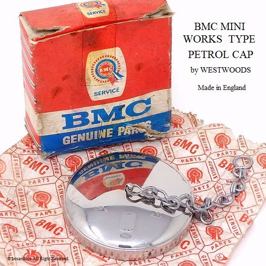 貴重!WESTWOODS  BMC WORKS MINI MK1 PETROL CAP/ワークス ミニ MK1 ガスキャップ デッドストック 箱入