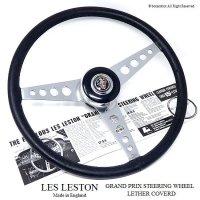 貴重!1960's LES LESTON GP/レスレストン グランプリ レザーステアリング フルセット MINI用 48スプラインボス