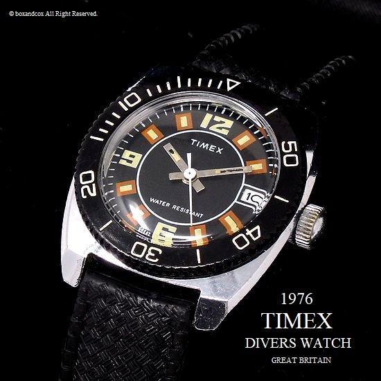1976年 Vintage TIMEX  DIVERS DATE /英国 ビンテージ タイメックス ダイバーズ デイト 腕時計