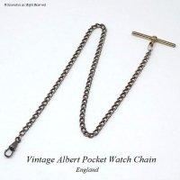 英国 懐中時計用 ビンテージ アルバートチェーン