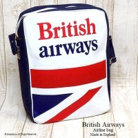 <img class='new_mark_img1' src='//img.shop-pro.jp/img/new/icons13.gif' style='border:none;display:inline;margin:0px;padding:0px;width:auto;' />1970's British Airways Airline bag shoulder UJ NOS/エアライン ユニオンジャック ショルダーバッグ デッドストック未使用