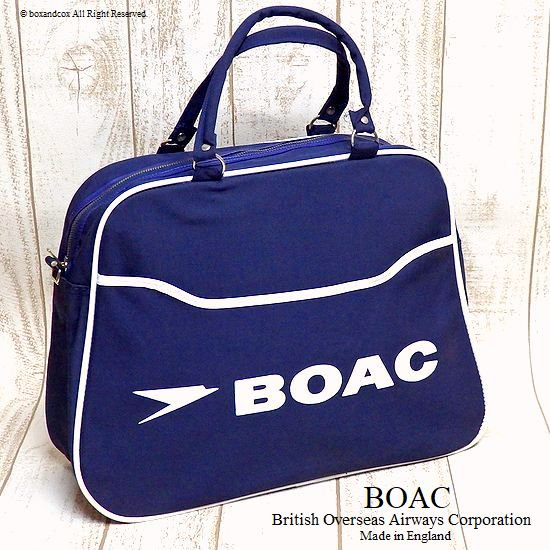 1960's BOAC Airline bag shoulder/エア...