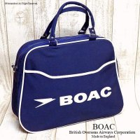 1960's BOAC Airline bag shoulder/エアライン ボストンバッグ デッドストック未使用